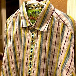 Robert Graham striped long sleeve button shirt